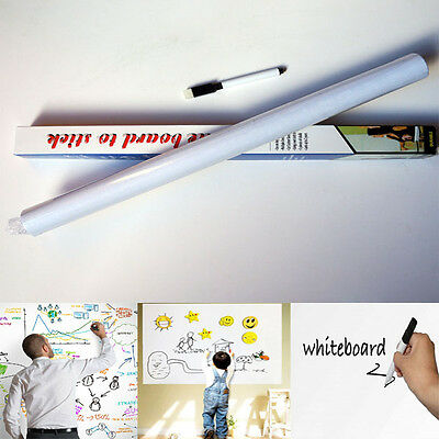 45x200cm Whiteboard Wall Sticker Removable Vinyl Sticker Decal with One Free Pen