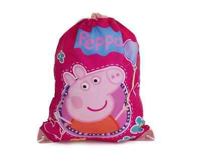 Official New Peppa Pig Trainer Shoe Gym Pe Sports Kit Tidy Drawstring Bag