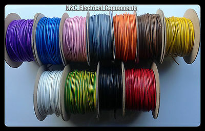 50M 2.5mm 30Amp AND 100X MIXED BAG OF CRIMP AUTOMOTIVE CABLE AUTO WIRE
