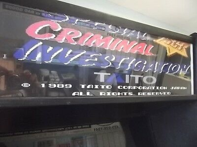 TAITO - Special Criminal Investigation  Stand-up Video Arcade Game
