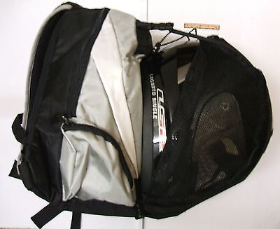 Motorcycle Backpack with Full Face Helmet Carrier motorbike bike rucksack