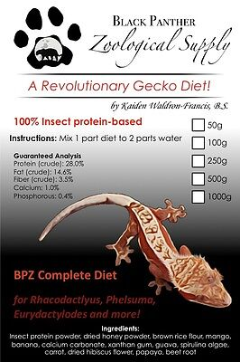 Black Panther Zoological Complete Gecko Diet - The 1st Insect Protein Based Diet