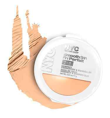 NYC Smooth Skin 2in1 Compact Foundation & Concealer 002 Light