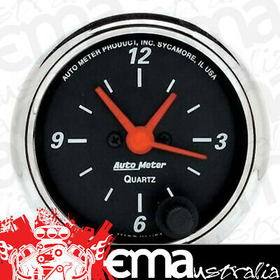 "Autometer Designer Black Clock Au1484, 2-1/16"" Electric Quartz Movement"