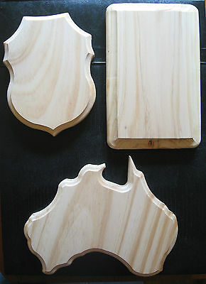 Wooden Shield Wall Plaque Picture Mount Natural Bonsai Plinth Craft Wood Shapes