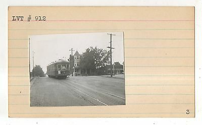 Lehigh Valley Transit Company Trolly, Streetcar PA Original Trolley Photograph