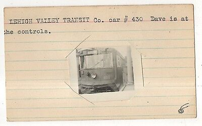 LVT, Lehigh Valley Transit Company Streetcar, Original Trolley Trolly Photograph