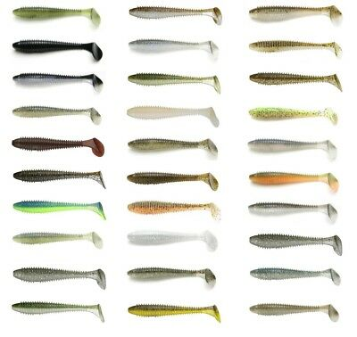"Keitech Fat Swing Impact Paddle Tail Swimbait 2.8"" (7.1 Cm) 8 Pack Keitech Lures"