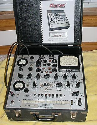 HICKOK 539C TUBE TESTER WORKS WELL, CLEAN, TESTS HAM RADIO AMP MUSIC