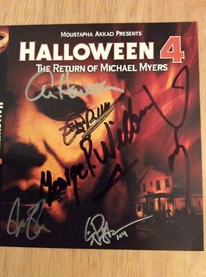 SIGNED x6 Halloween 4: The Return of Michael Myers Blu-ray Howarth Dwight Little