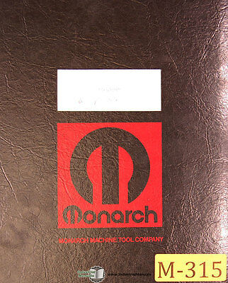 "Monarch EE, 50392 10"" Lathe, Operations Lubrications and Electrical Manual 1970"