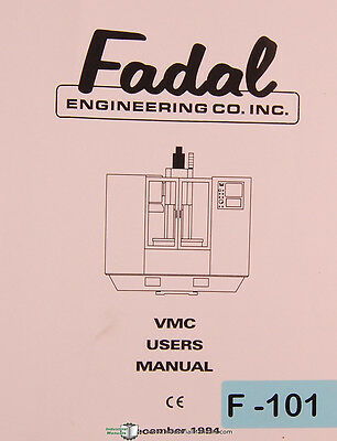 Fadal VMC Series, Machining Center, Operation Programming User Manual 1994