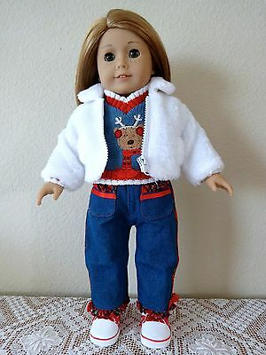 """NEW-DOLL PANTS/SWEATER/COAT/BOOTS_Lot#106 fit 18""""Doll such as American Girl Doll"""