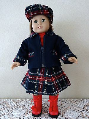 """NEW-DOLL Jacket/Skirt/Hat/Boots_Lot #107 fit 18""""Doll such as American Girl Doll"""