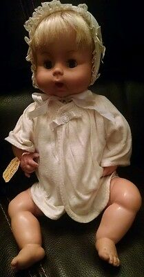 """Vintage Horsman Thirsty Thirstee Baby 17"""" From the 1960s"""