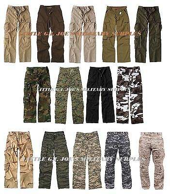 HOT ITEM! Camouflage Vintage Military Paratrooper Tactical BDU Fatigue Pants #1