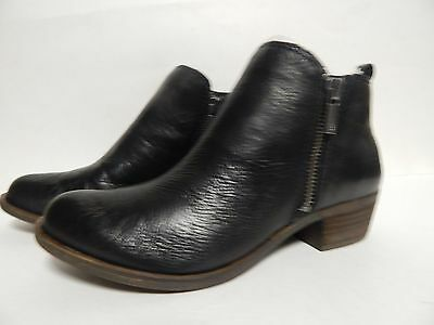 Lucky Brand Basel Ankle Bootie 6 M Black Glove Nappa  New w/Box