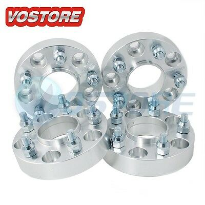 (4) 1'' 5 Lug Hubcentric Wheel Spacers Adapters 5x4.5 for Ford Jeep Mazda Kia