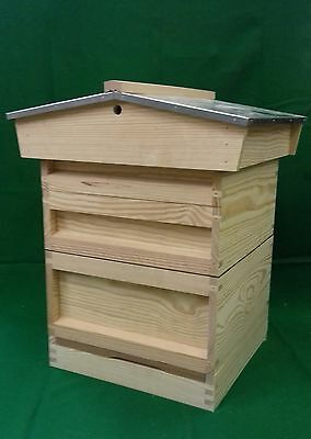 National Beehive Bee hive - Varroa Floor, Brood, 2 Supers FULLY ASSEMBLED.