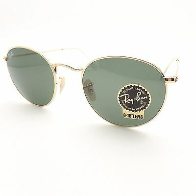 Ray Ban RB 3447 001 Gold G15 Green New 100% Authentic Made In Italy