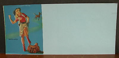 Blank Punchboard Gaming Label Cowgirl Switch Hitch Hard to Find