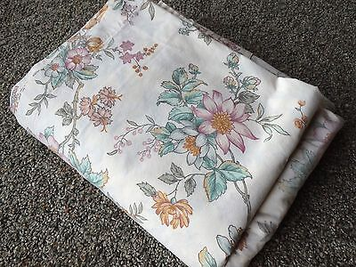 Westpoint Stevens Vintage 4pc FULL Sheet Set Green Pink Mustard Floral