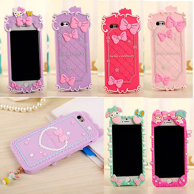 New 3D Cute My Melody Hello Kitty Soft Silicone Case Cover for iPhone 6 Plus 5S