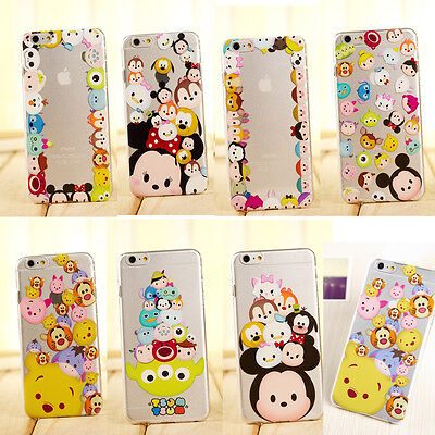 New Cute Cartoon Disney Crystal Clear Hard PC Case Cover for iPhone 6 Plus 6 5S