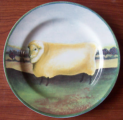 """1995 Block Country Farm - by Gear Salad Plate 8"""" - Sheep"""