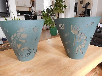 Kokopelli & Gecko Sconce candle deck patio bedroom hall party light NICE 1 pair