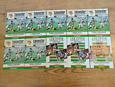 Leicester Rugby Programmes 1964 - 2005