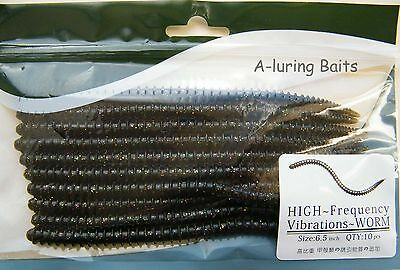 Worm Grub Ribbed Soft Plastic Lure Hook Fishing Tackle Swim bait Jig Head 165mm