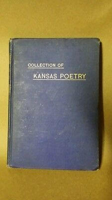 """Collection Of Kansas Poetry"" 1891 Miss Hattie Horner Vintage Antique Book RARE"