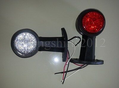 2x  12V LED Recovery Side Marker Truck Trailer Camper Lorry Light Lamp Stalk New
