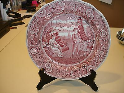 """ONE SPODE ARCHIVE COLLECTION GEORGIAN SERIES WOODMAN DINNER PLATE ROSE 10-1/2"""""""