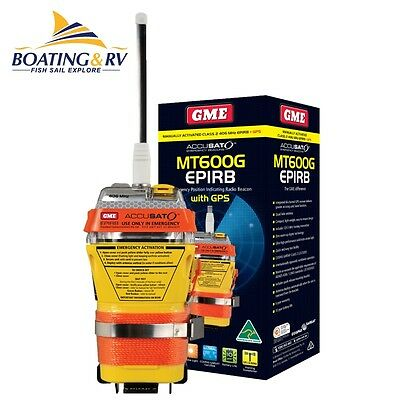 GME MT600G EPIRB with GPS 406 MHz 10 year Battery Life - Free Postage - MT 600G