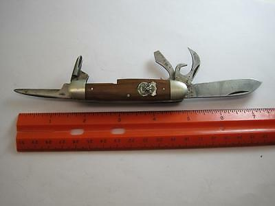lot D,vintage Boy Scout knife,Imperial,triple backspring,5 blade,phillips,Rare!