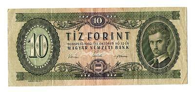 1962 Hungary 10 Forint Banknote