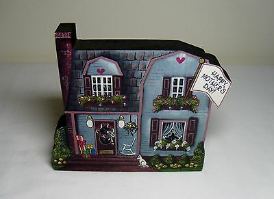 Brandywine Seasons of the Heart May Mothers Day Cat Gift Wood House Shelf Sitter