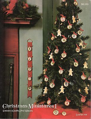 CHRISTMAS MINIATURES I BY PAT WATERS & COUNTRY CRAFTS CROSS STITCH PATTERN