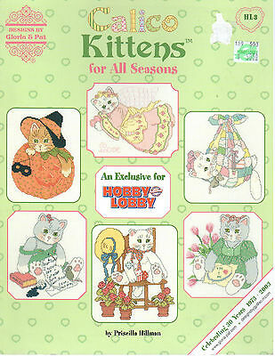 CALICO KITTENS FOR ALL SEASONS DESIGNS BY GLORIA AND PAT CROSS STITCH PATTERN