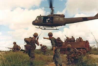 "U.S. Soldiers Huey Helicopter M113 Armored Vehicle 13""x19"" Vietnam War Poster166"