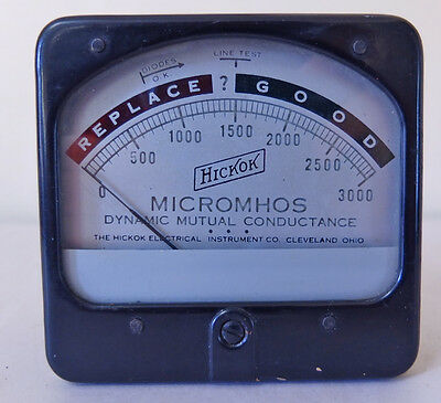 Vintage Hickok Micromhos Dynamic Mutual Conductance Meter