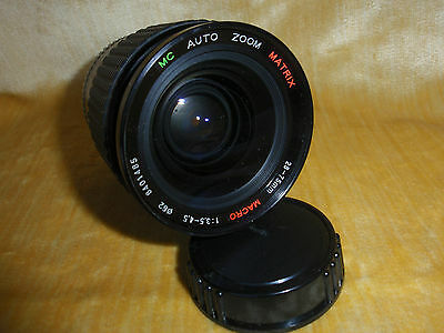 MATRIX 28-75MM ZOOM LENS MACRO 1:3.5 - 4.5  / FOR OLYMPUS