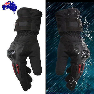 PRO-BIKER Motorcycle Bicycle Racing Ski Winter Warm Waterproof Armor Gloves M-XL