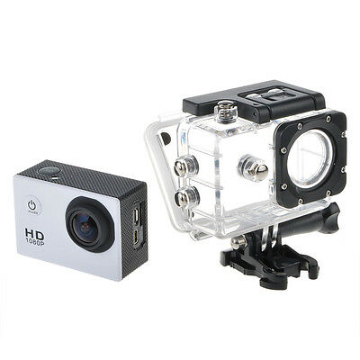 White SJ4000 12MP Full HD Waterproof Bicycle Sport Action DV Camera Camcorder