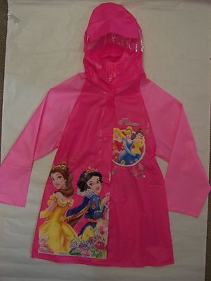 Brand New Girls Princess Rain Coat- Size 3 To 10