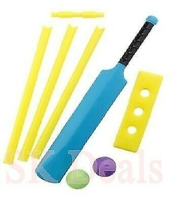 Plastic Cricket Set With Stumps & 2 Plastic Ball For Kids 3-4 Years Of Age