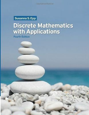 NEW Discrete Mathematics with Applications by Susanna S. Epp Hardcover Book (Eng