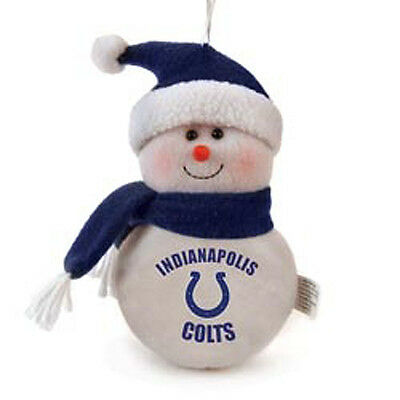 Team Snowman Indianapolis Colts Plush Christmas Holiday Ornament BRAND NEW